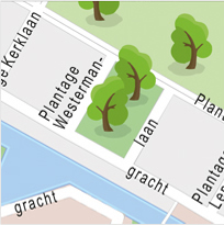 A couple of maps made for the well known parking lot giant in major cities and various countries. The maps are developed in a near childlike style with trees, splashy water and other personalized icons. Only to be seen in the car parks from Qpark.