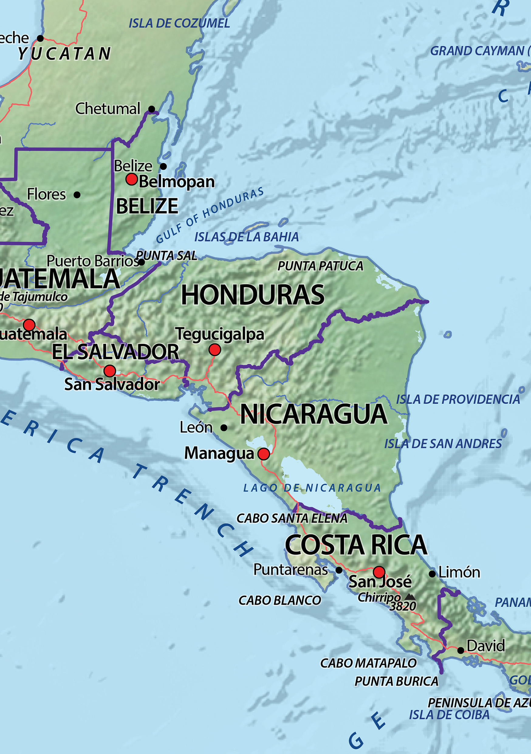 central america physical map 100 images middle america map quiz