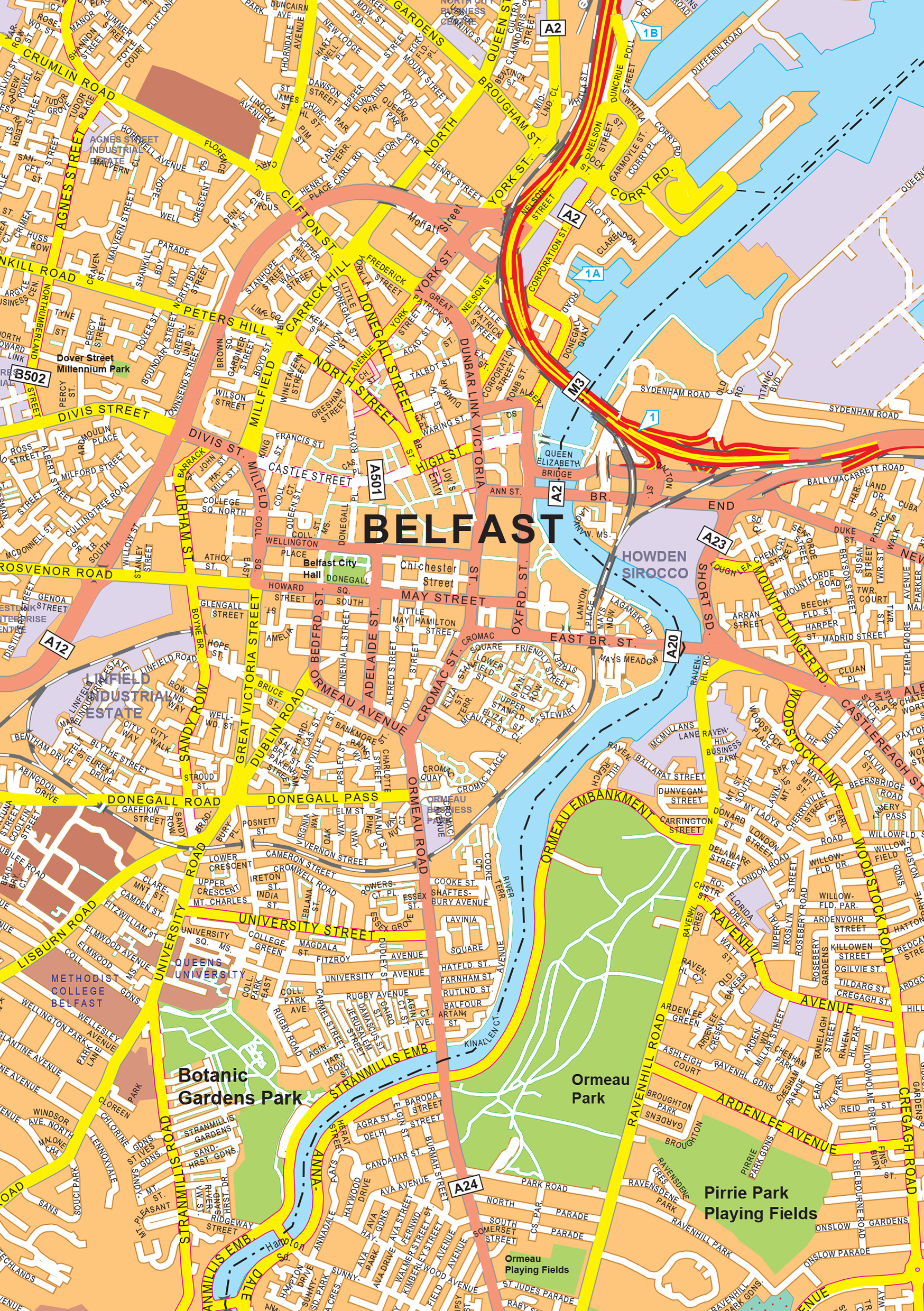 Digital city map belfast 468 the world of maps download sample gumiabroncs Images