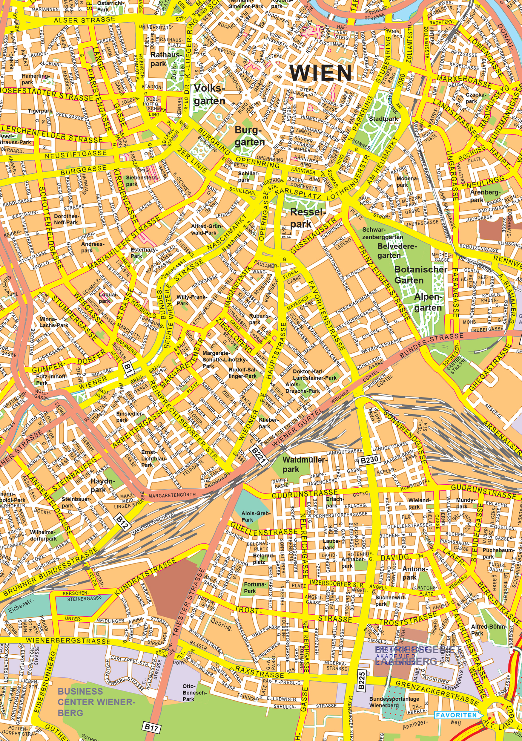 Digital city map vienna 500 the world of maps download sample gumiabroncs Choice Image