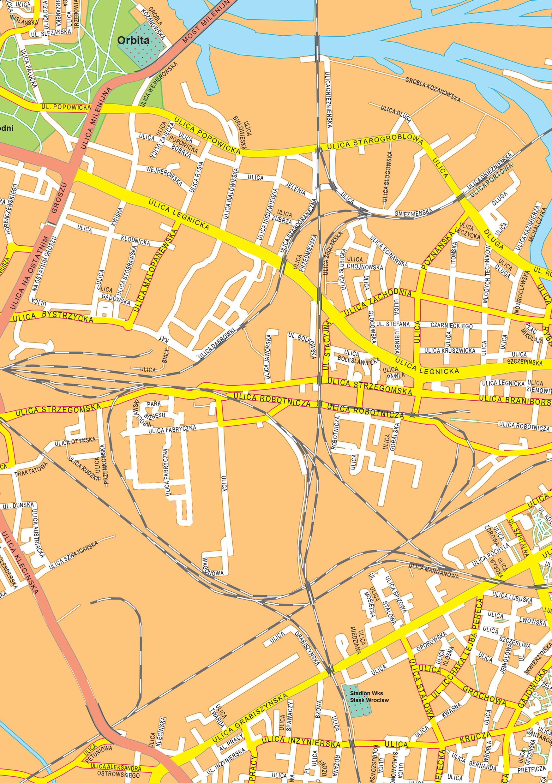 Digital City Map Wroclaw 501 The World of Mapscom