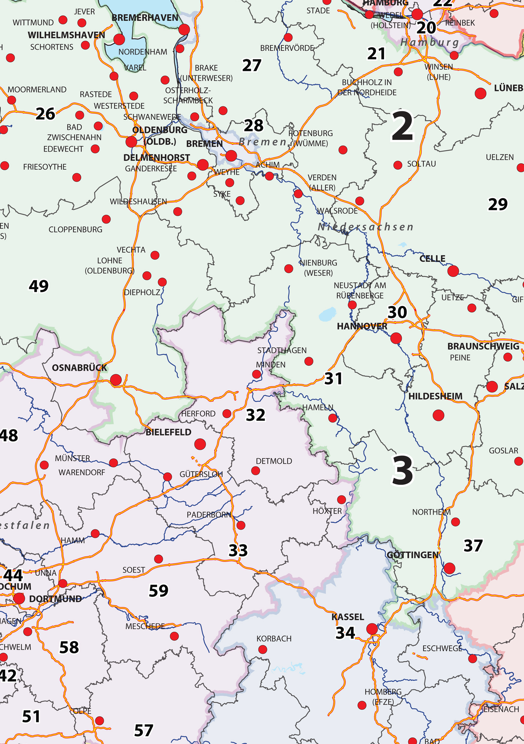 Digital zip code map germany 282 the world of maps download sample gumiabroncs Image collections