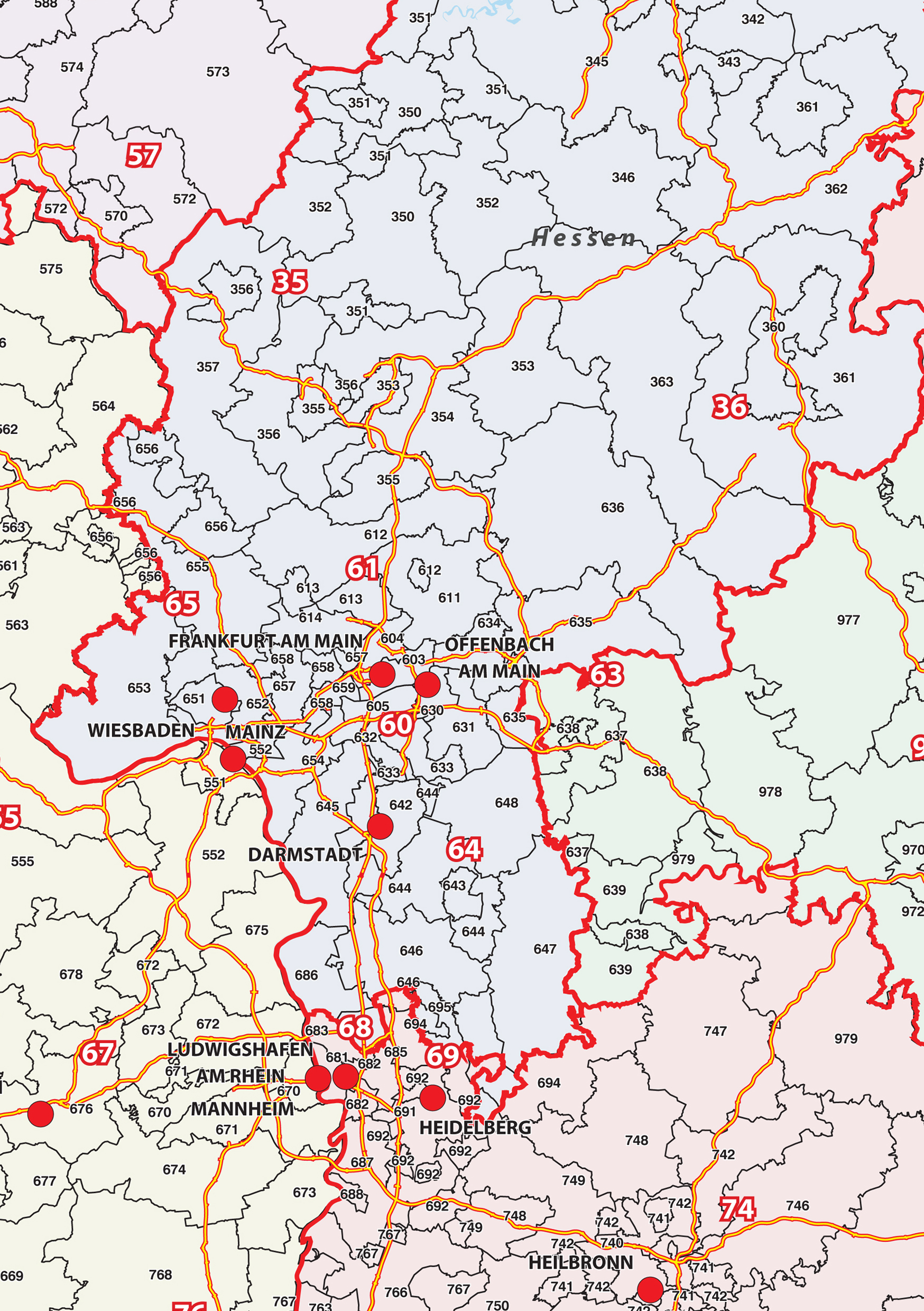 Digital zip code map germany 286 the world of maps download sample gumiabroncs Image collections