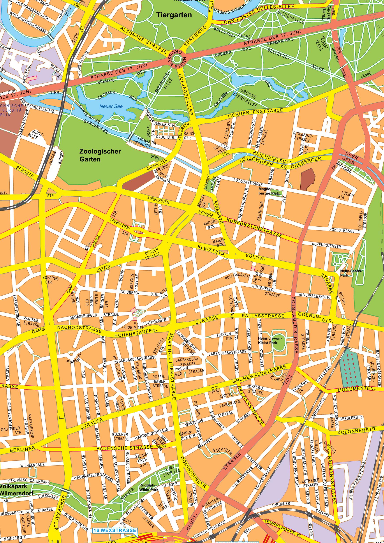 Digital City Map Centre Of Berlin The World Of Mapscom - Map of berlin city centre