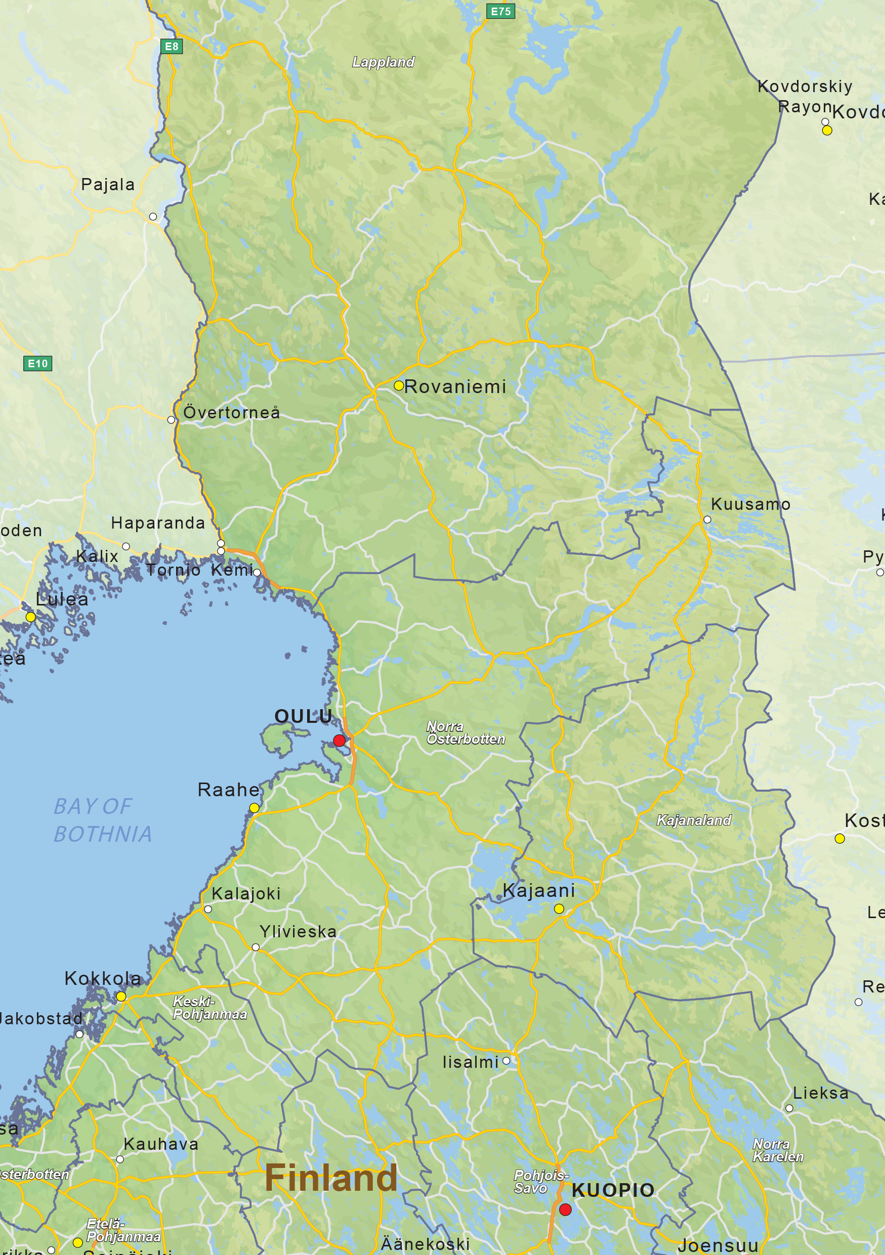 digital physical map of finland 1431