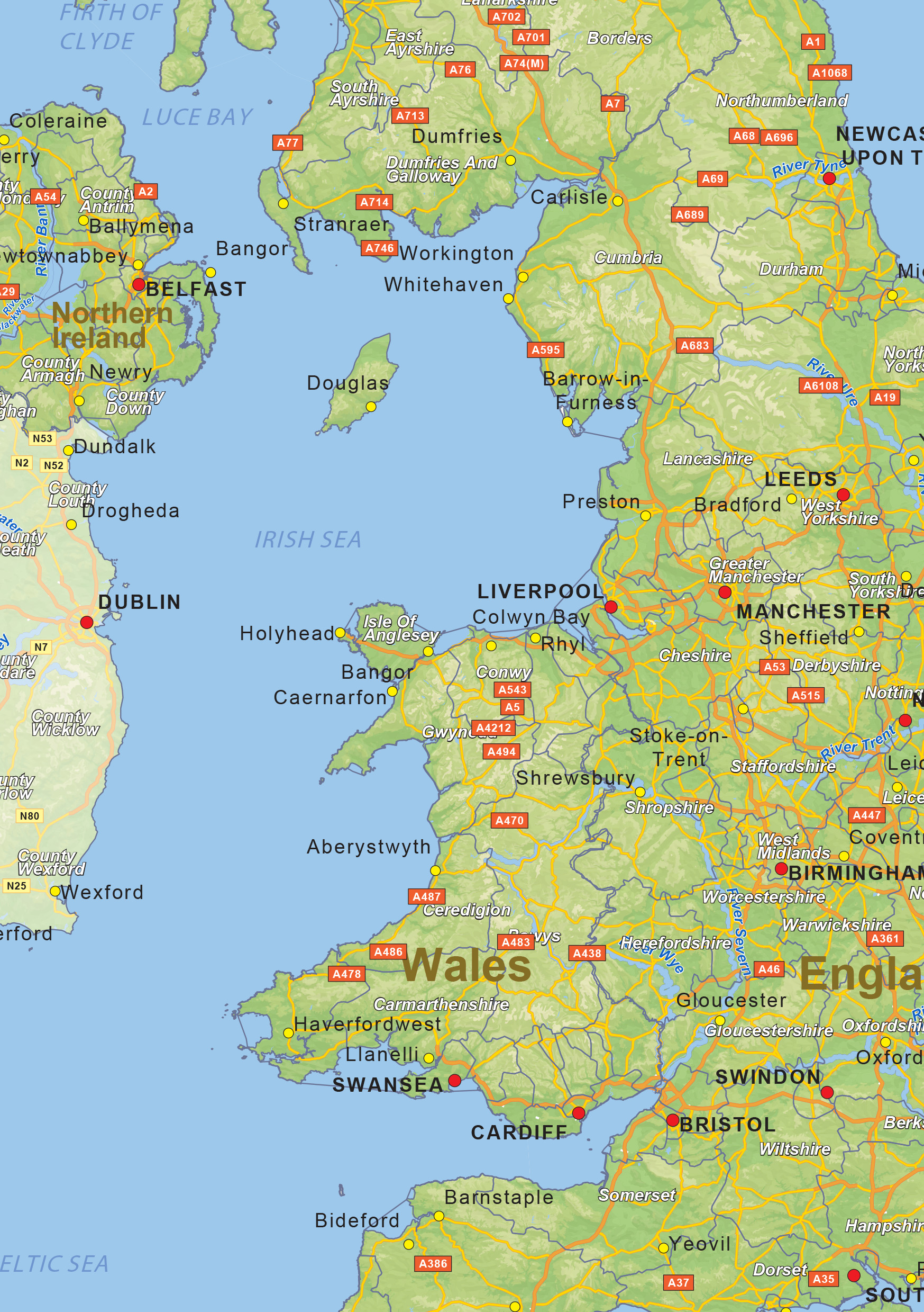 Digital physical map of united kingdom 1469 the world of maps download sample sciox Image collections