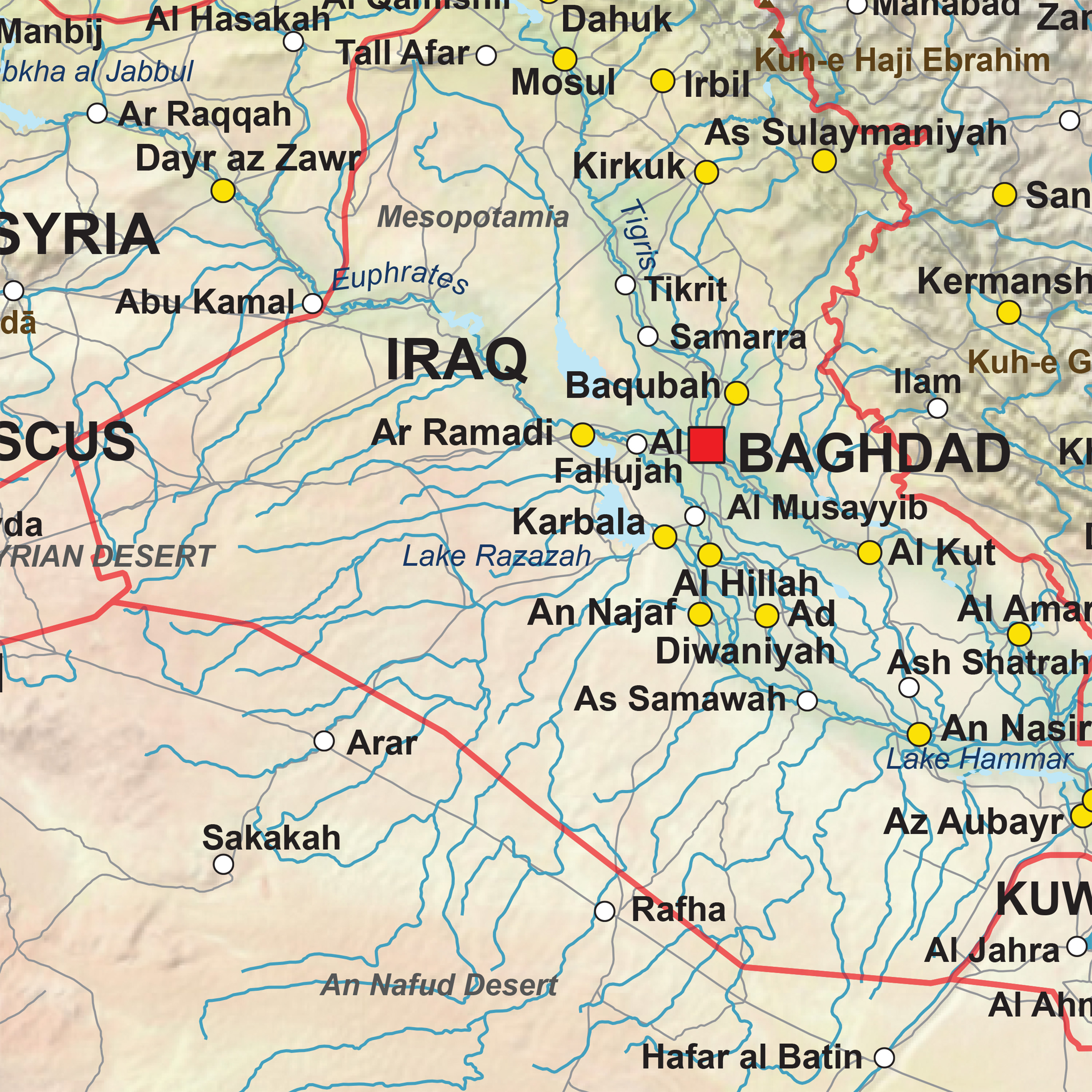 Digital map middle east physical 1311 the world of maps download sample gumiabroncs Choice Image