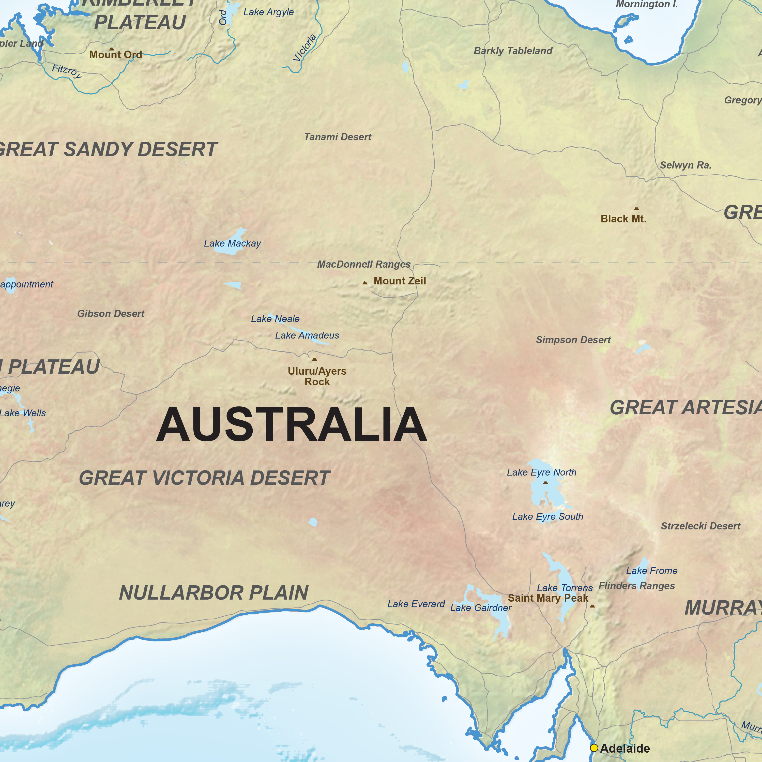 Map australia digital physical 1310 the world of maps download sample gumiabroncs Choice Image