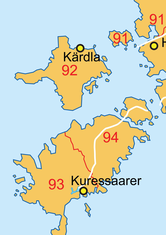 Digital postcode map Estonia 2-digit 78 | The World of Maps com