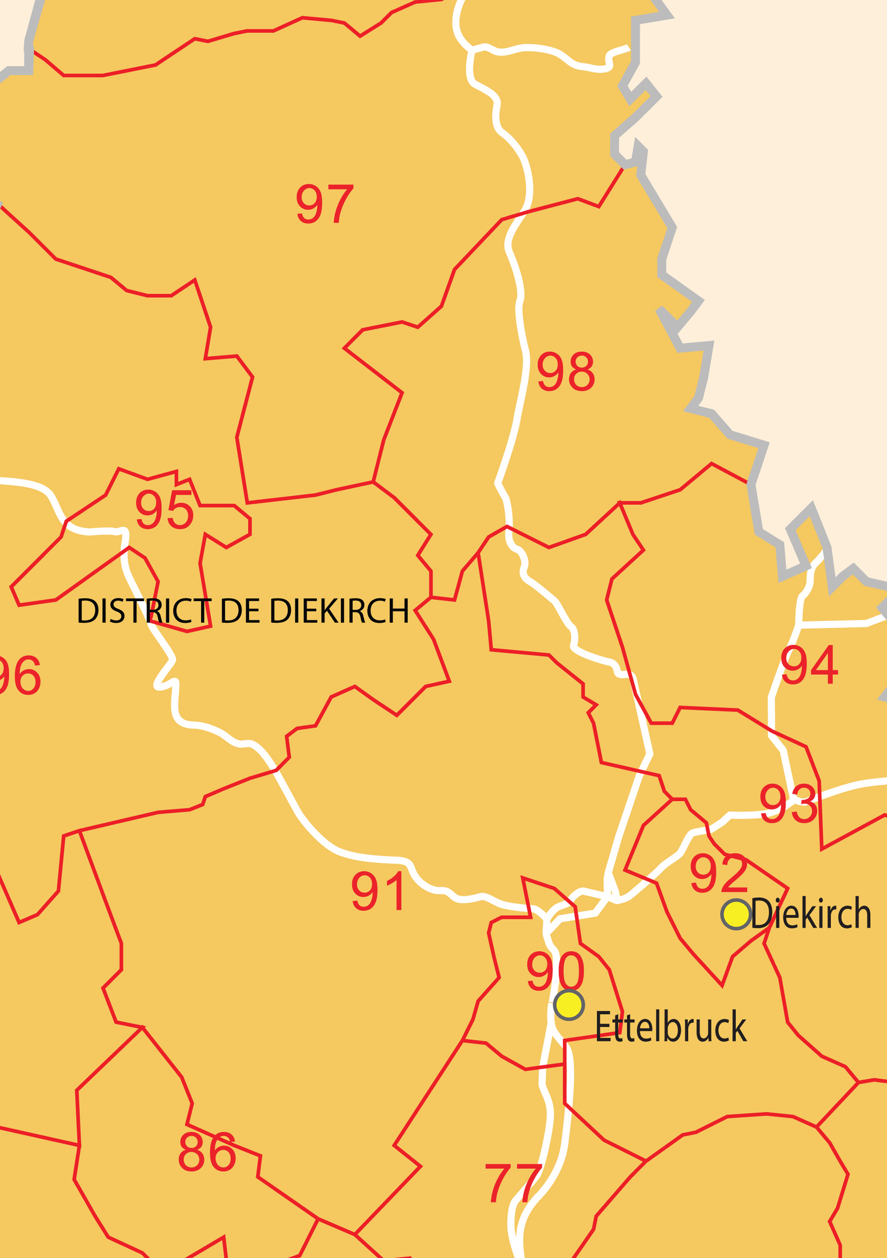 Digital Postcode Map Luxembourg Digit The World Of Mapscom - Luxembourg clickable map
