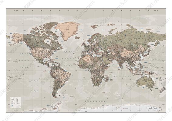 VECTOR WORLD MAP XXL POLITICAL 746