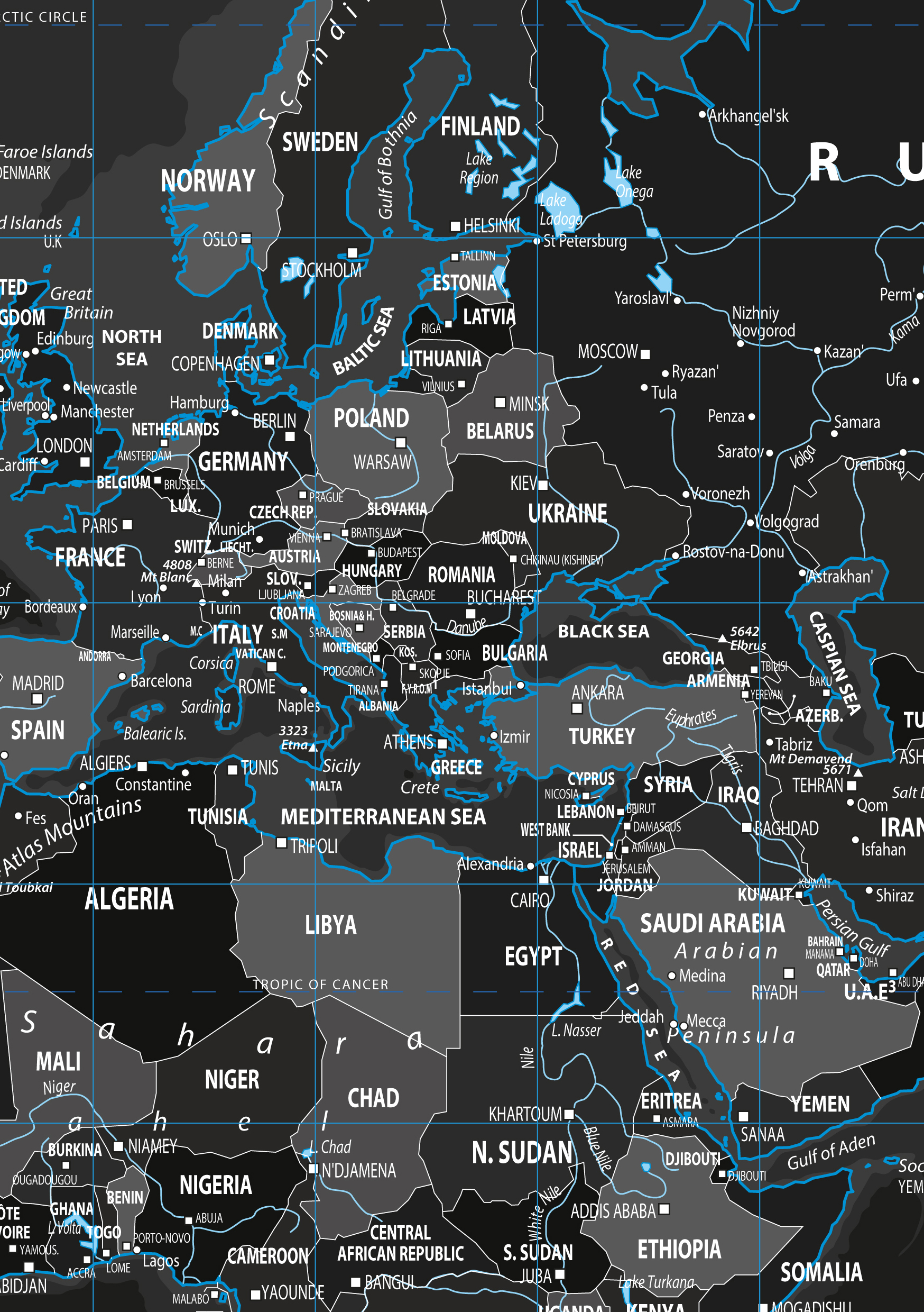 Digital world map black ice 812 the world of maps download sample gumiabroncs Images