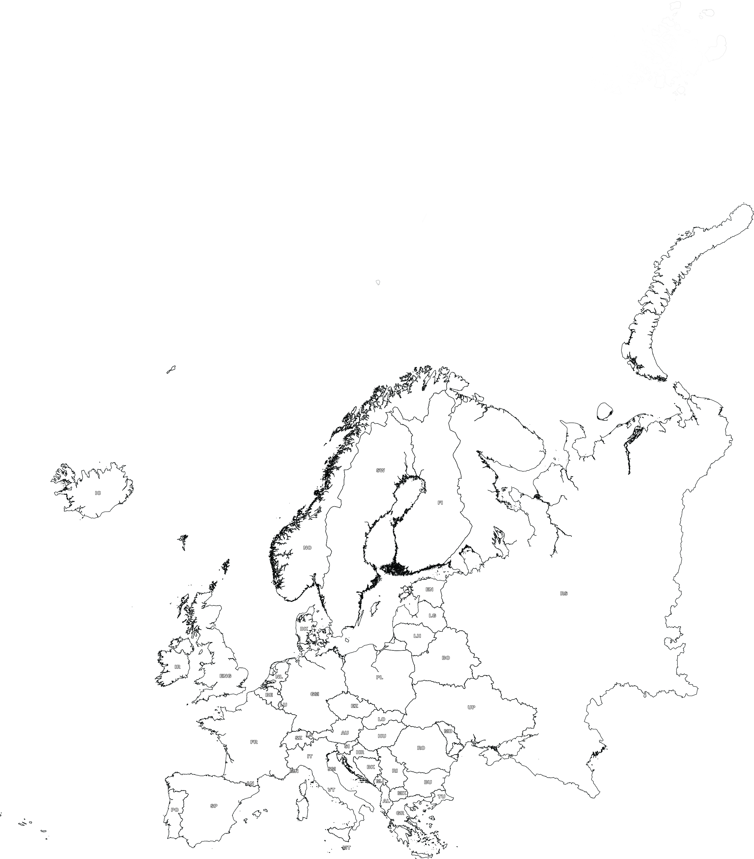 Digital map of europe free the world of maps largest format 300dpi download gumiabroncs Image collections