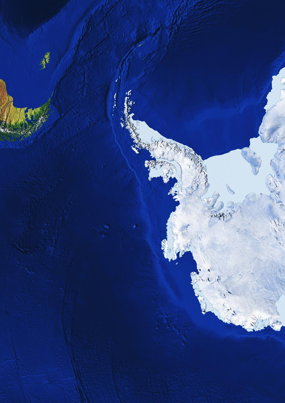 Digital Globe Image Antarctica 545 The World of Mapscom