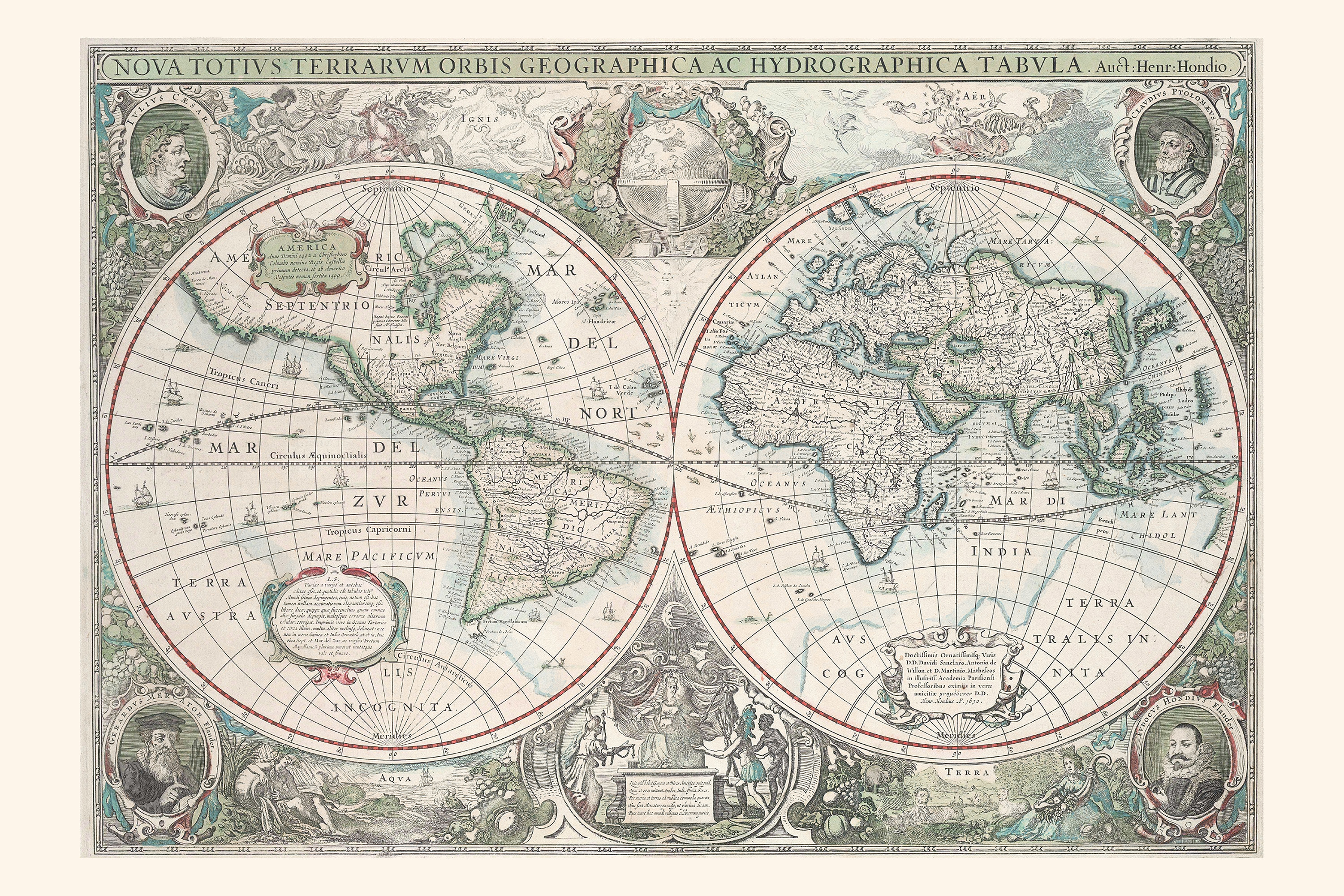Digital world map year 1630 hondius the world of maps download sample gumiabroncs Gallery