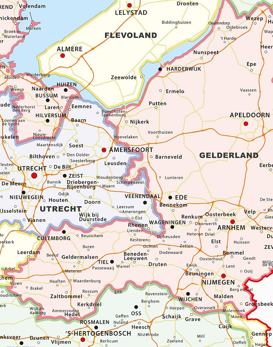 Digital Basic Map of The Netherlands 462 The World of Mapscom