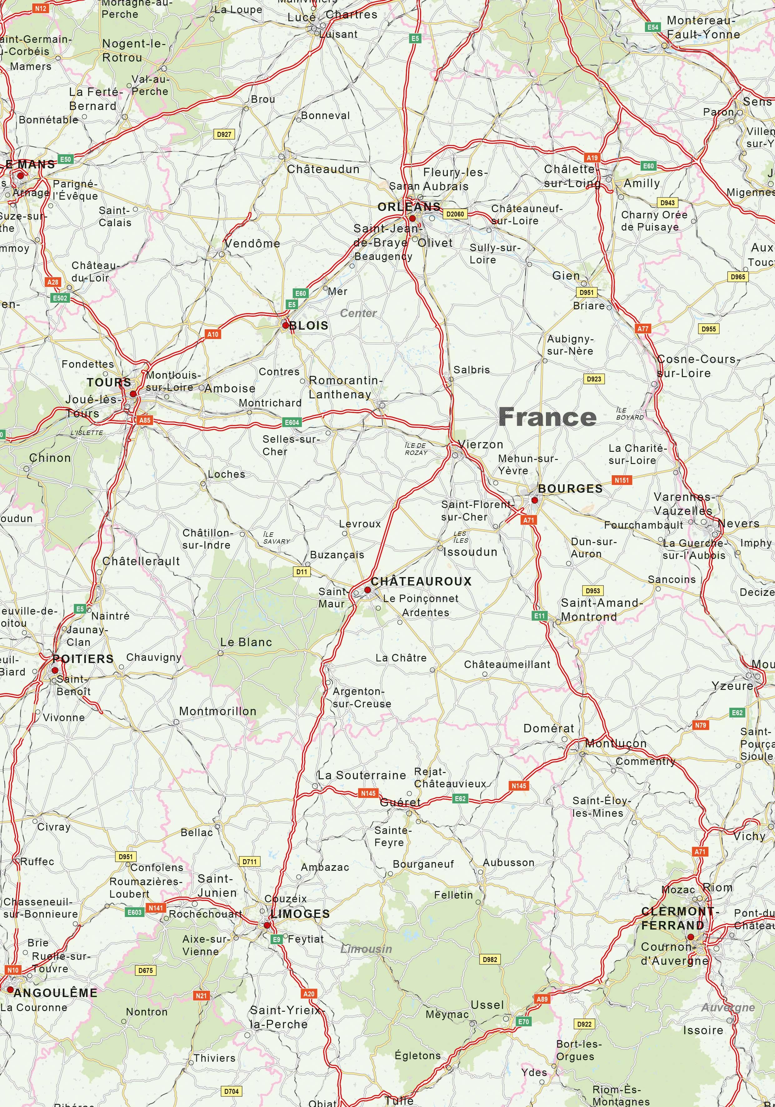 Digital Roadmap France 1415 | The World of Maps.com on