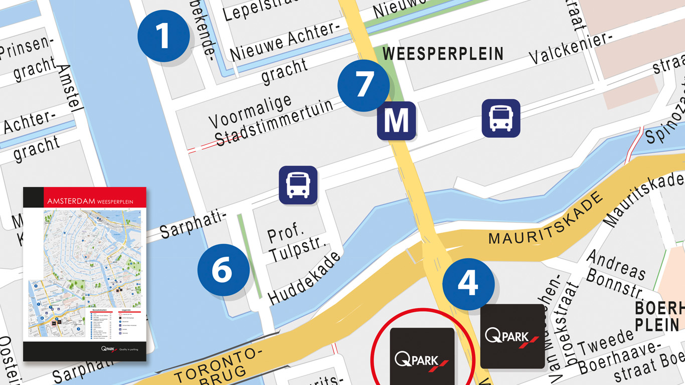 Map made for the parking giant Q-Park in Amsterdam.