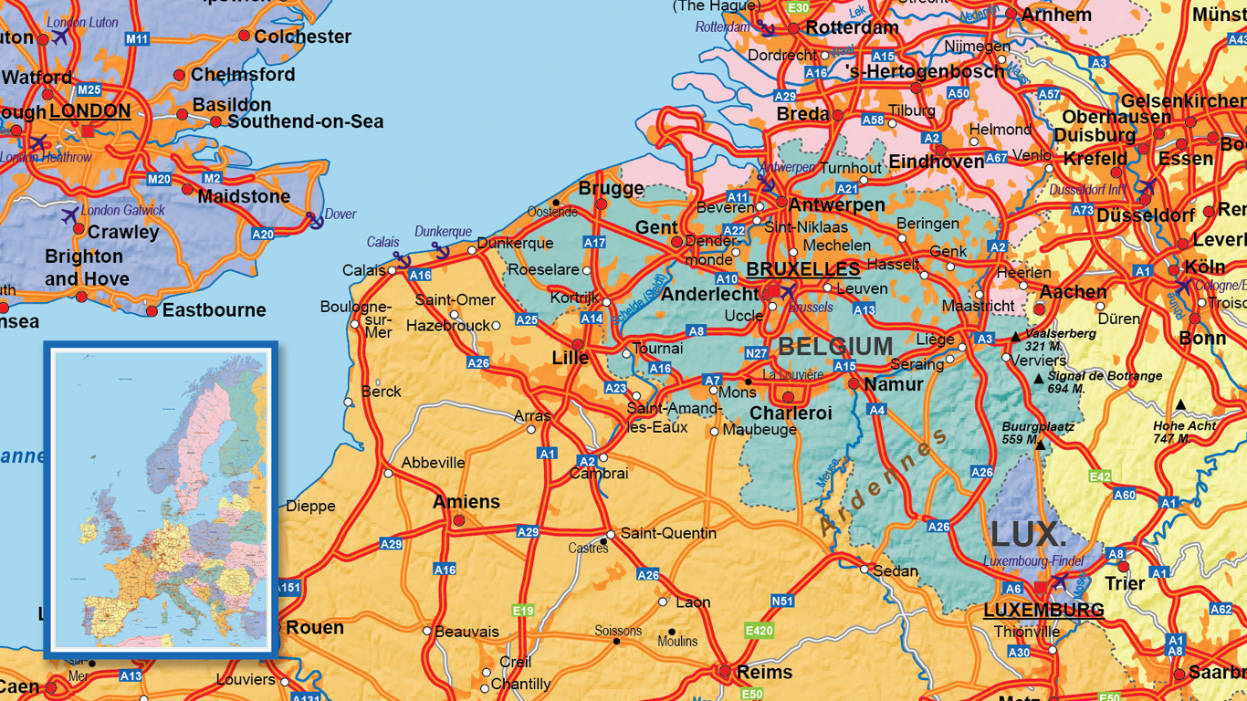 Europe Road map for the Virupa company.
