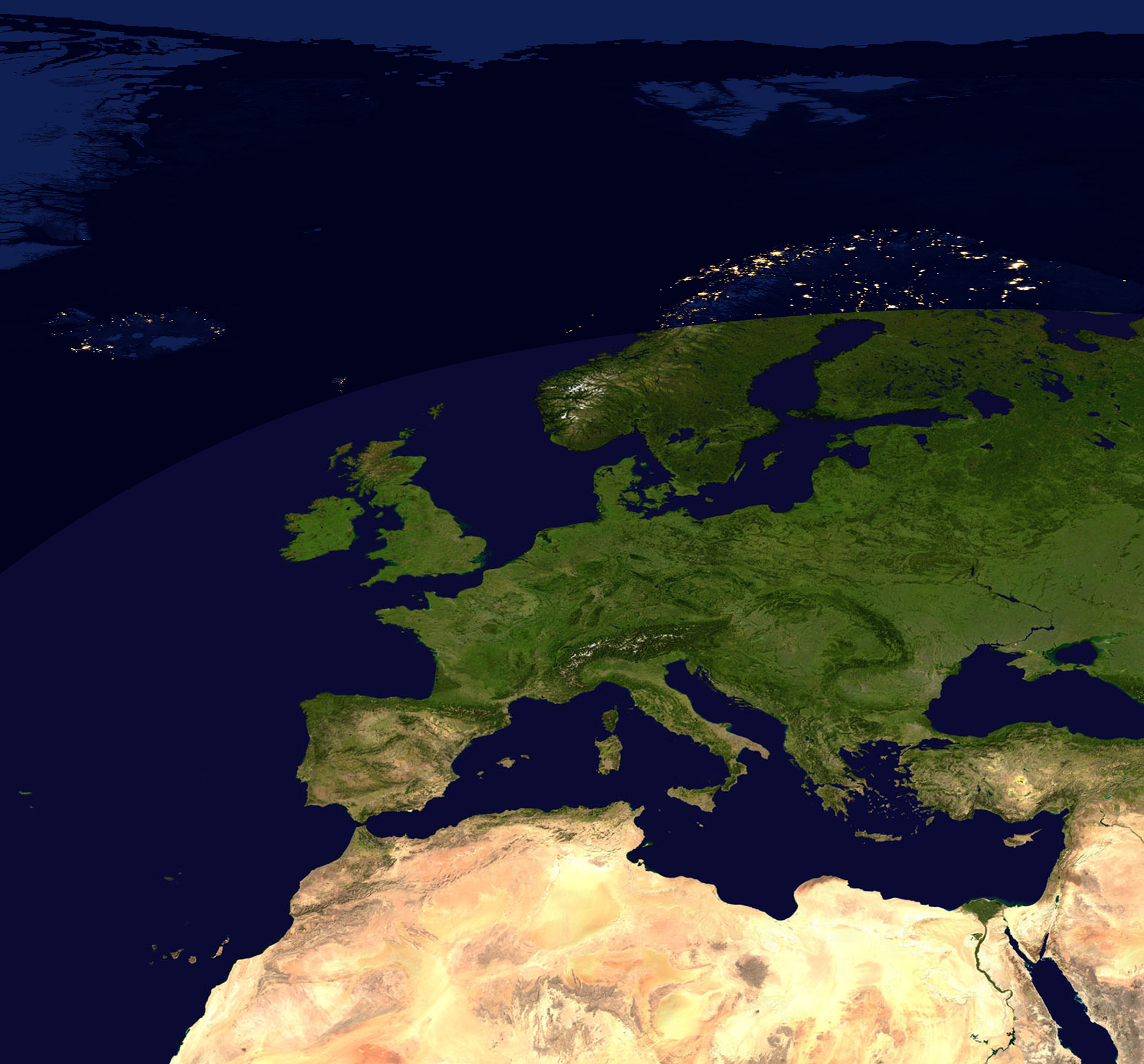 Digital satellite image day and night 848 the world of maps download sample gumiabroncs Images