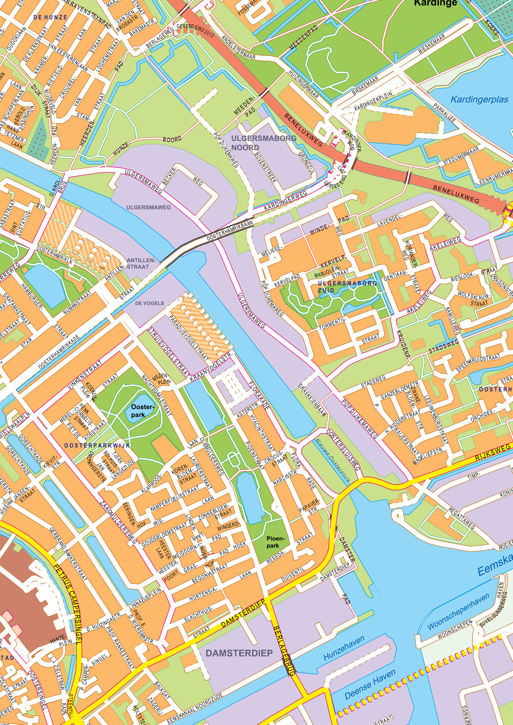 Digital City Map Groningen 397 The World of Mapscom