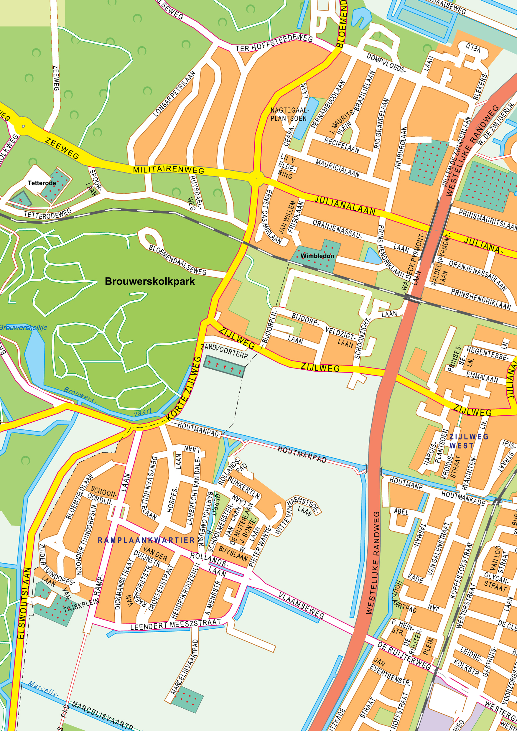 Digital City Map Haarlem 398 The World of Mapscom