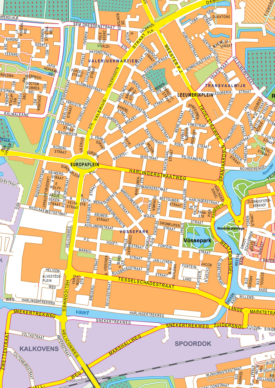 Digital City Map Leeuwarden 400 The World Of Maps Com