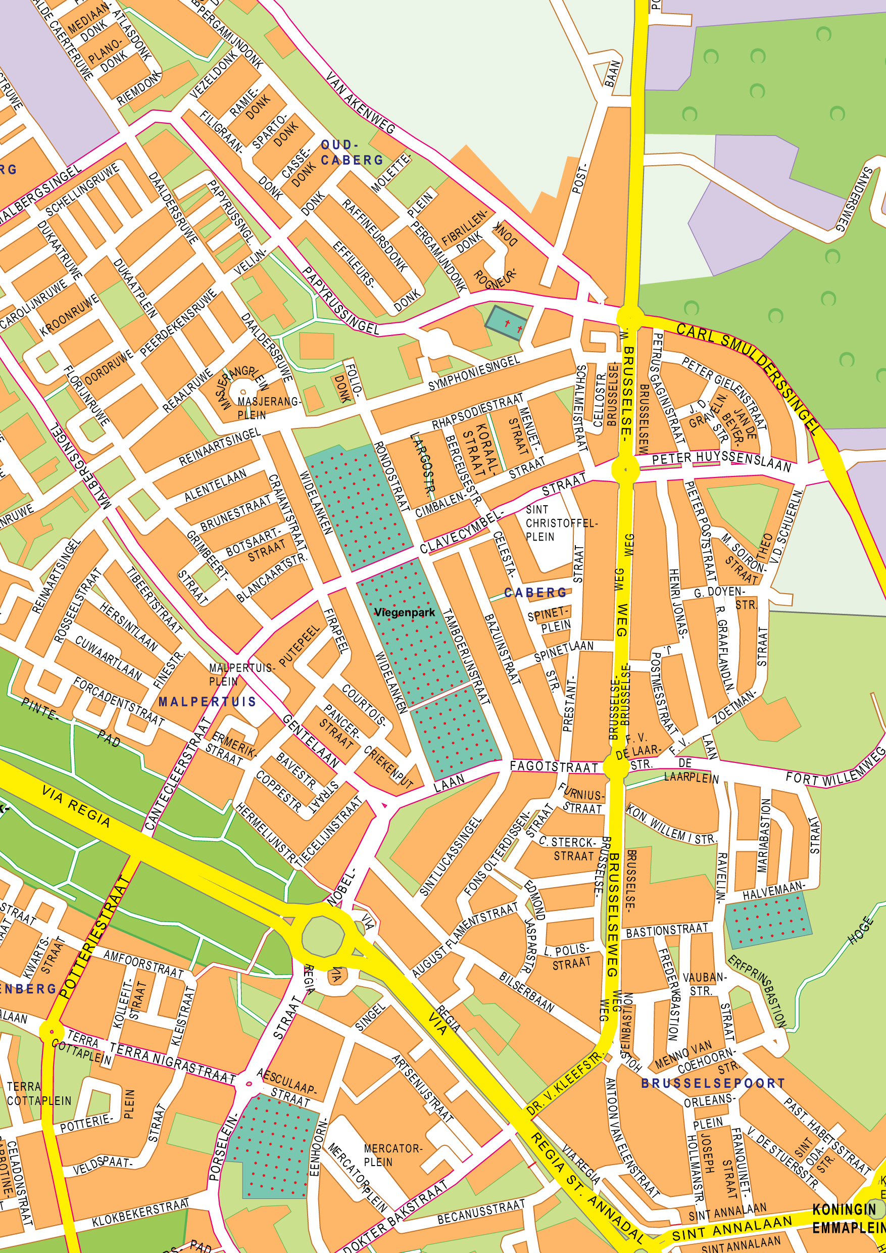 Digital City Map Maastricht 401 The World of Mapscom