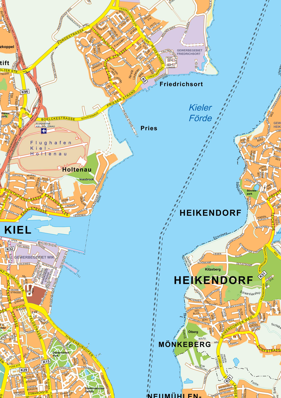Digital City Map Kiel 179 The World of Mapscom