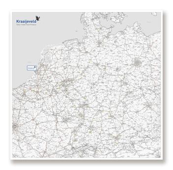 Custom road map created for the Kraaieveld company.