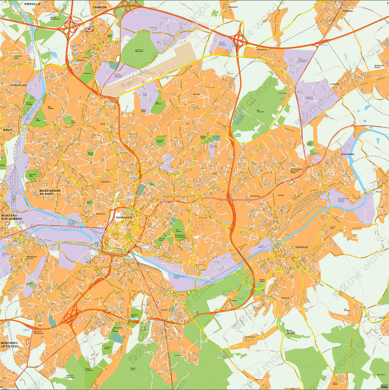 Digital City Map Brussels 153 | The World of Maps.com