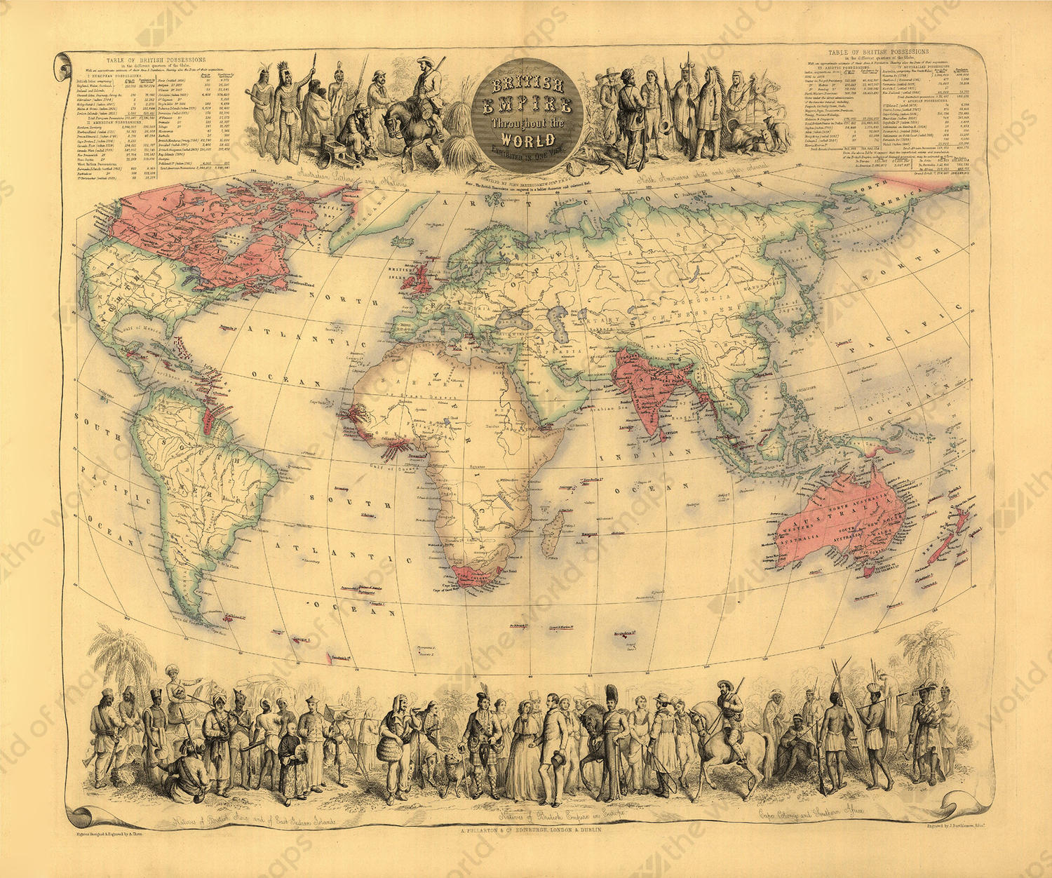 Digital world map year 1852 bartholomew 1338 the world of maps digital world map year 1852 bartholomew gumiabroncs Image collections