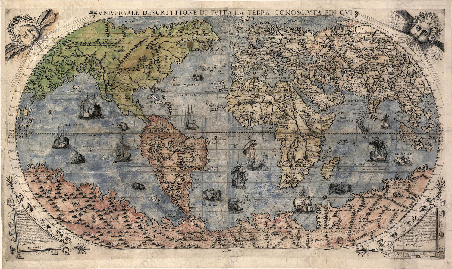 Digital world map year 1565 bertelli 1339 the world of maps digital world map year 1565 bertelli 1339 gumiabroncs Image collections