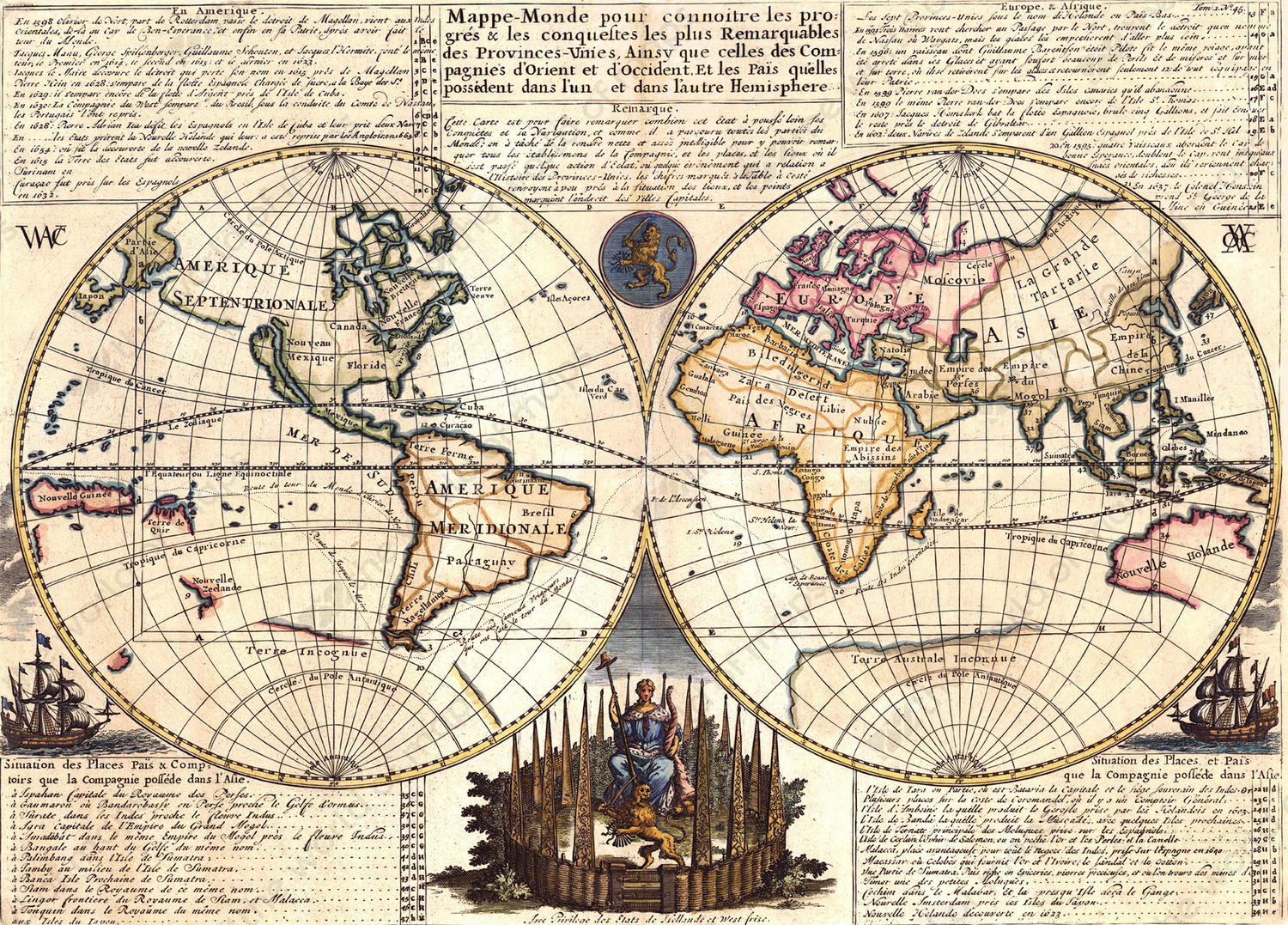 Digital world map year 1728 chatelain 1341 the world of maps digital world map year 1728 chatelain 1341 gumiabroncs Gallery