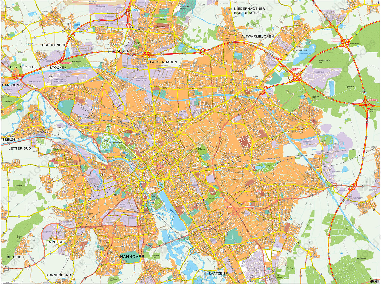 Digital City Map Hannover 142 The World of Mapscom
