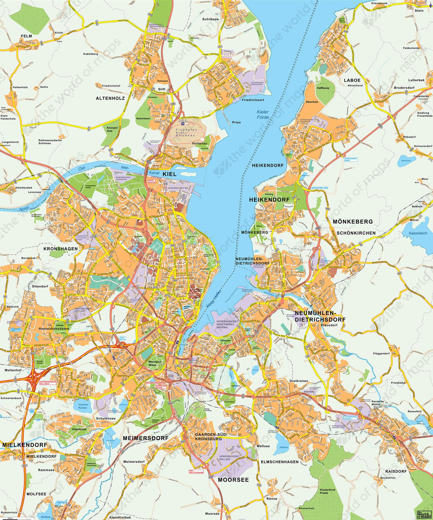 Digital map Kiel