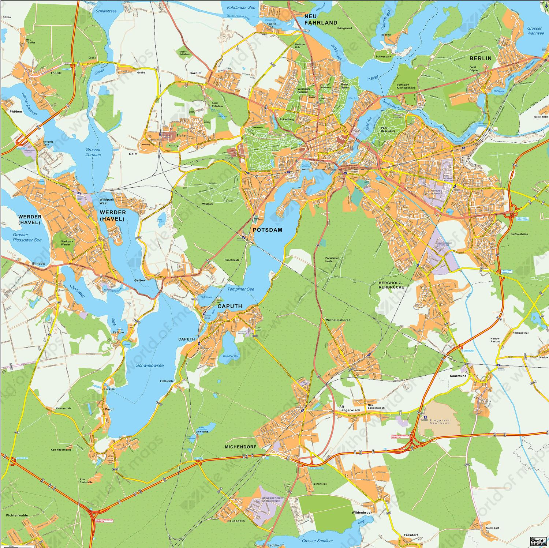 Digital city map Potsdam