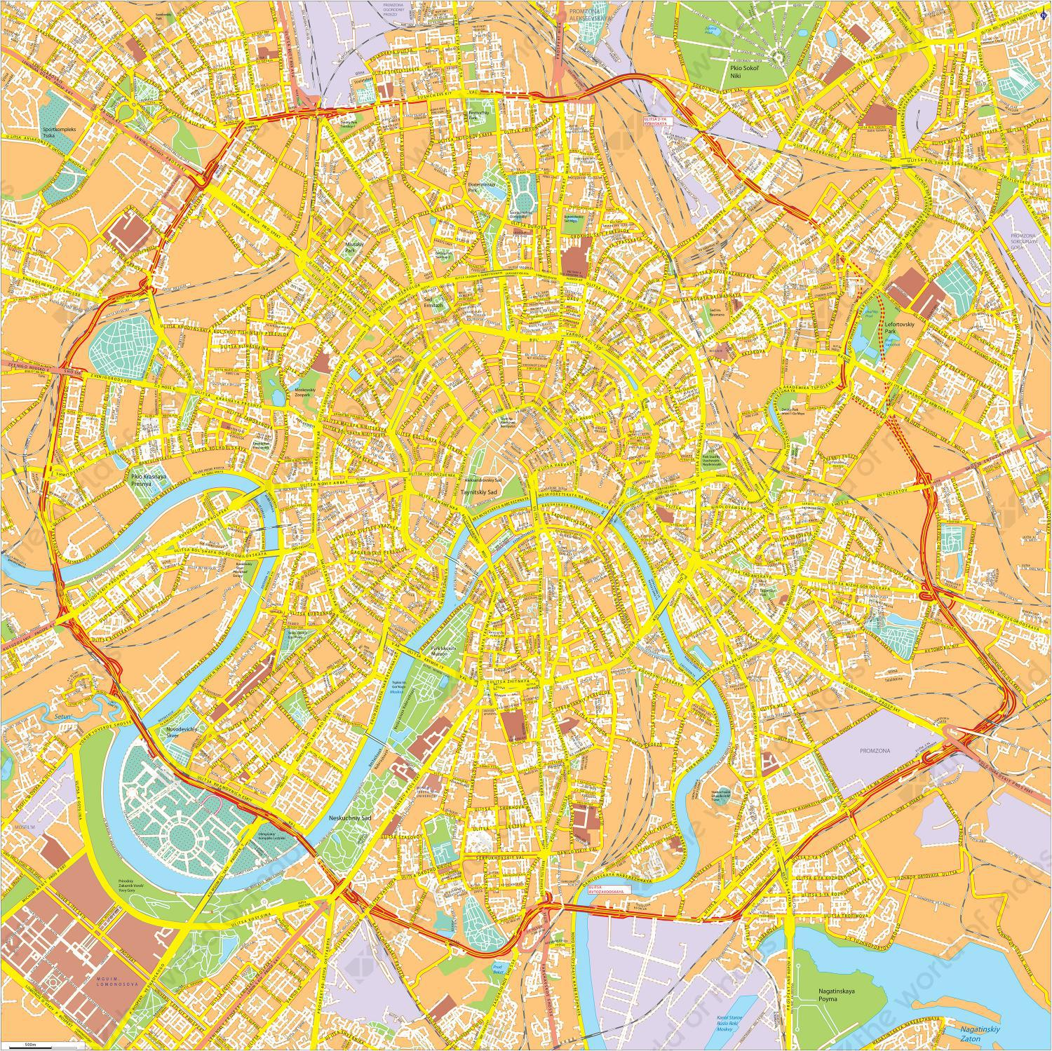 Digital city map moscow 769 the world of maps digitale kaart moskou moscow 769 gumiabroncs