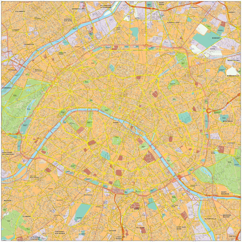 Digital map Paris