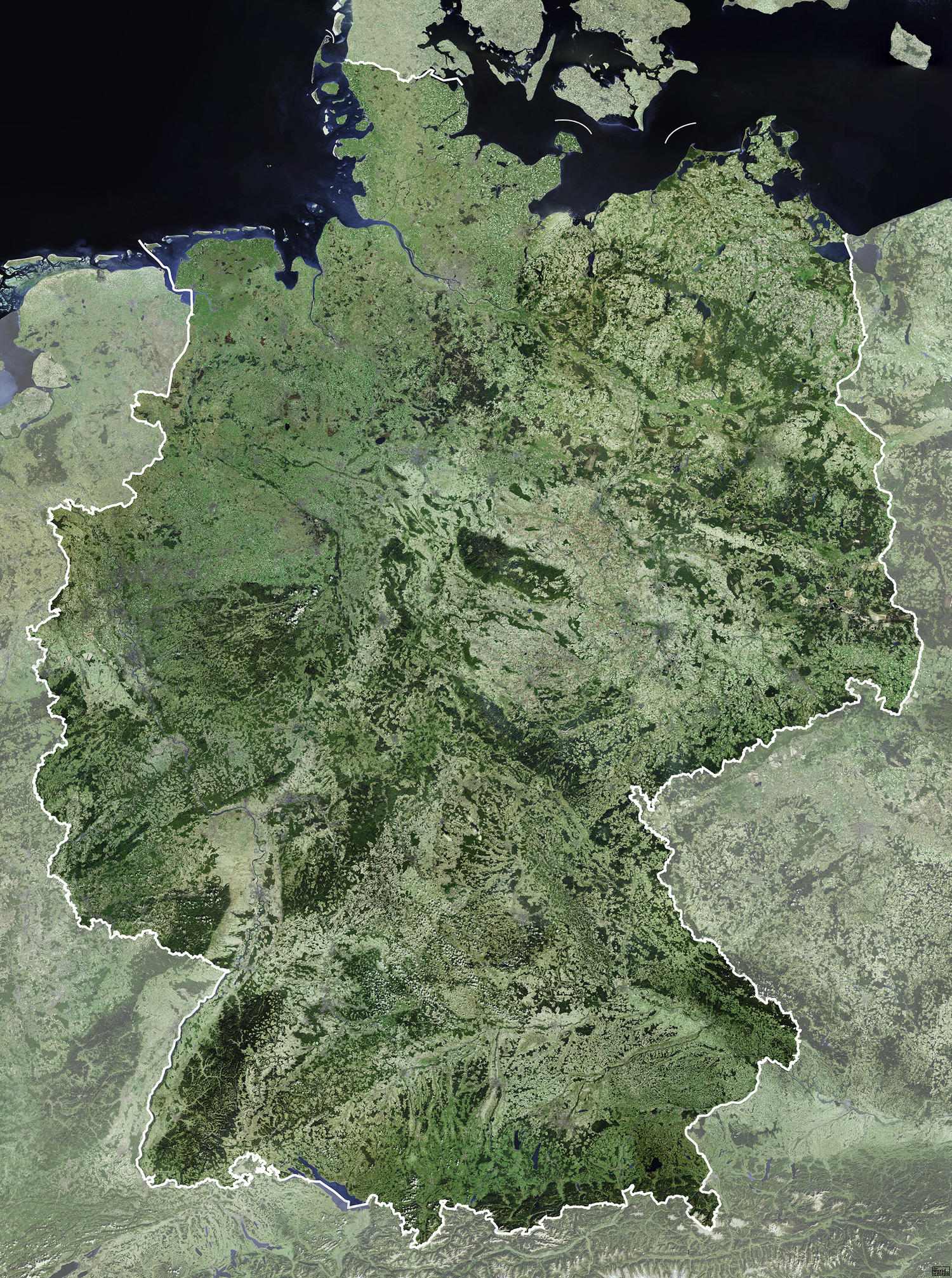 Digital Satellite Map Germany