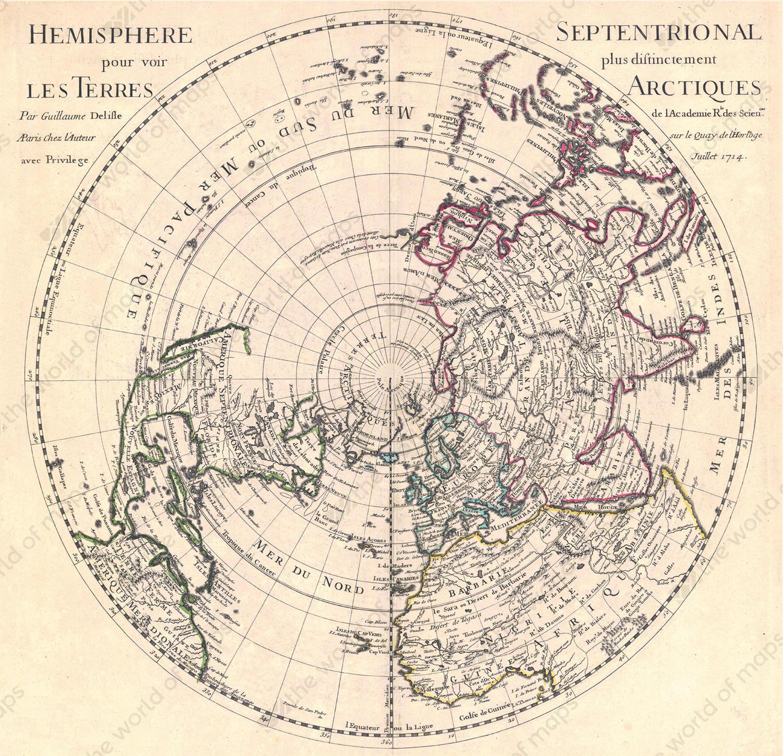 Digital world map year 1714 delisle 1340 the world of maps digital world map year 1714 delisle 1340 gumiabroncs Gallery