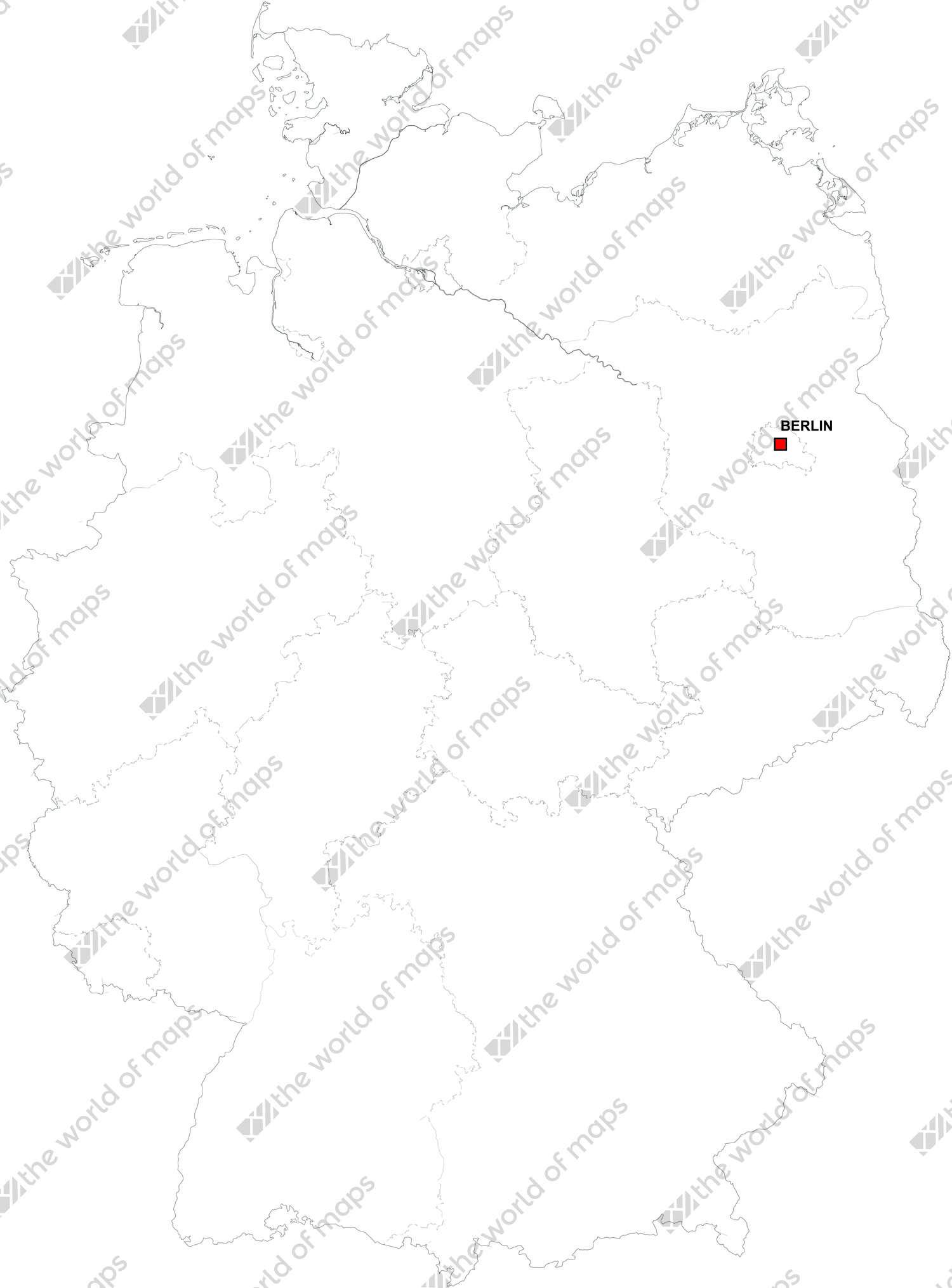 Digital map of Germany (free)