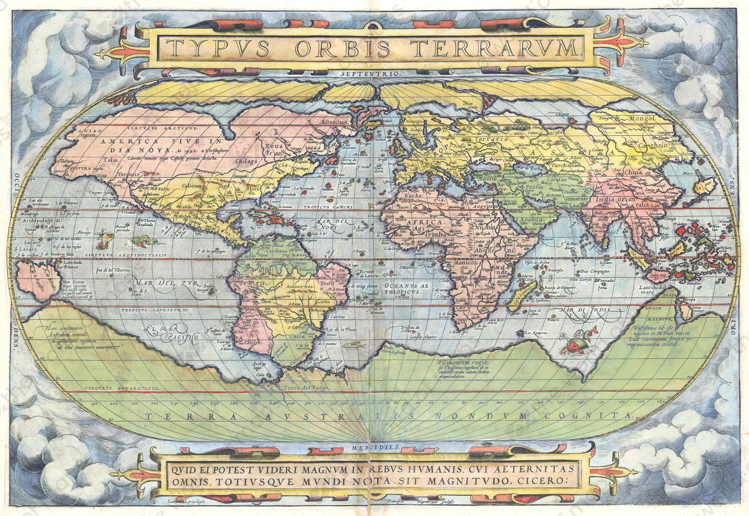 Digital world map year 1570 abraham ortelius the world of maps digital world map year 1570 abraham ortelius gumiabroncs Image collections