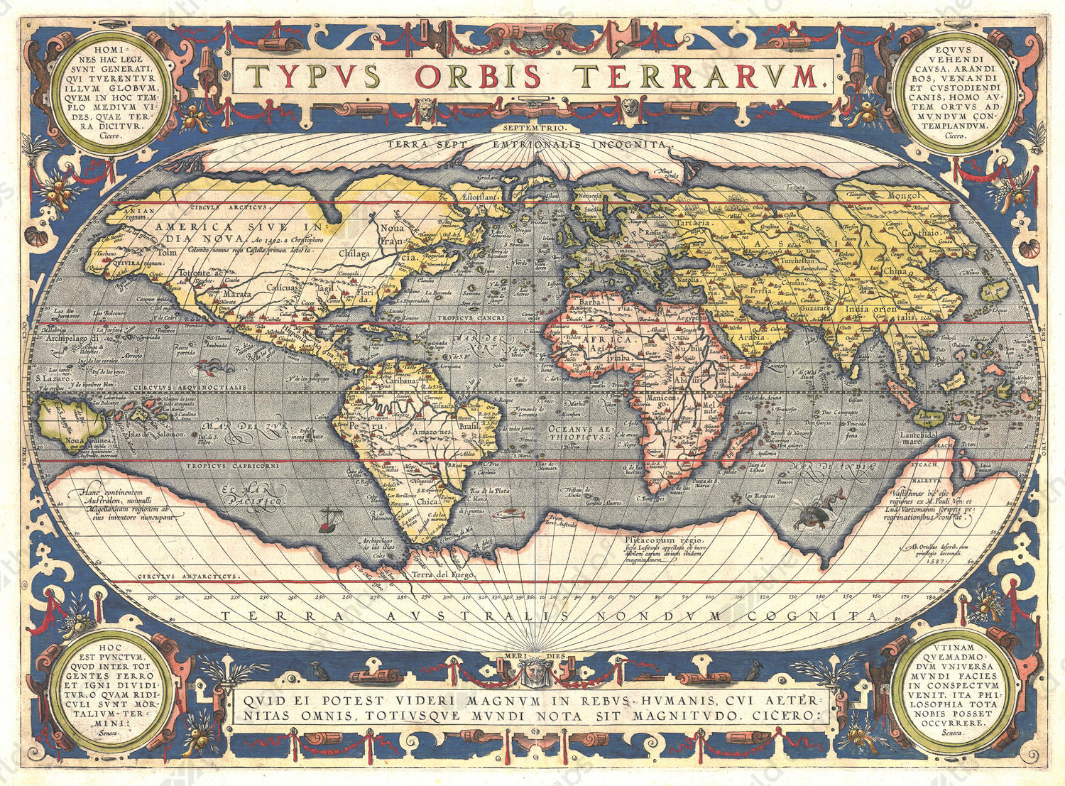 Digital world map year 1592 abraham ortelius the world of maps digital world map year 1592 abraham ortelius gumiabroncs Image collections