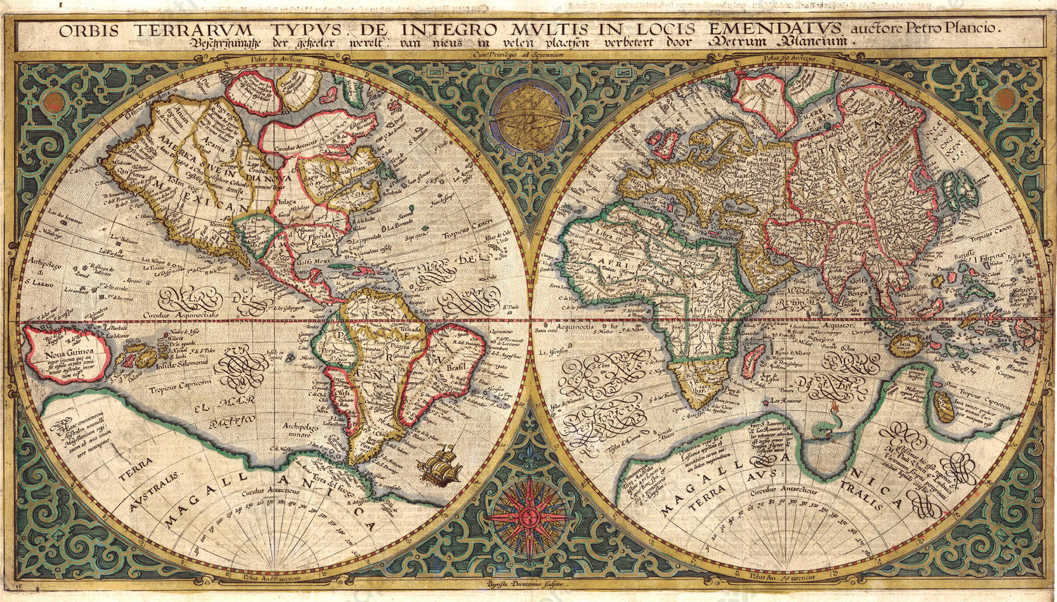Digital world map year 1594 petro plancio the world of maps digital world map year 1594 petro plancio gumiabroncs Image collections