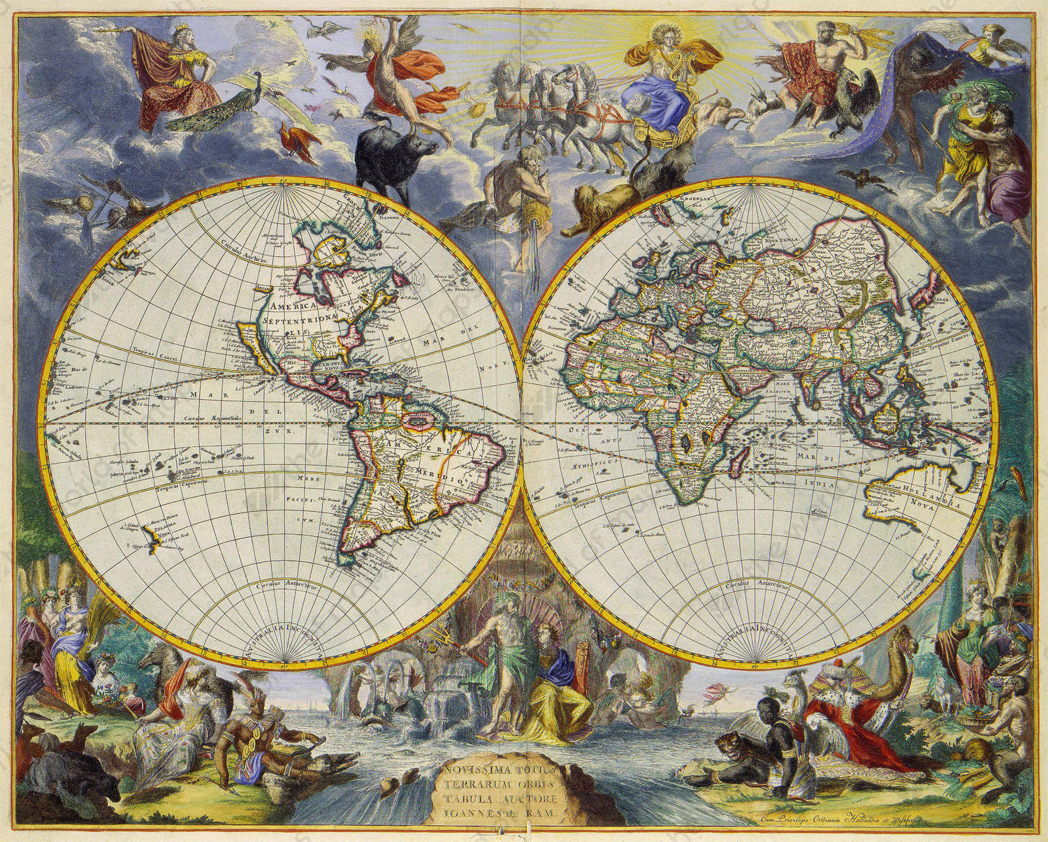 Digital world map year 1683 johannes de ram the world of maps digital world map year 1683 johannes de ram gumiabroncs Image collections