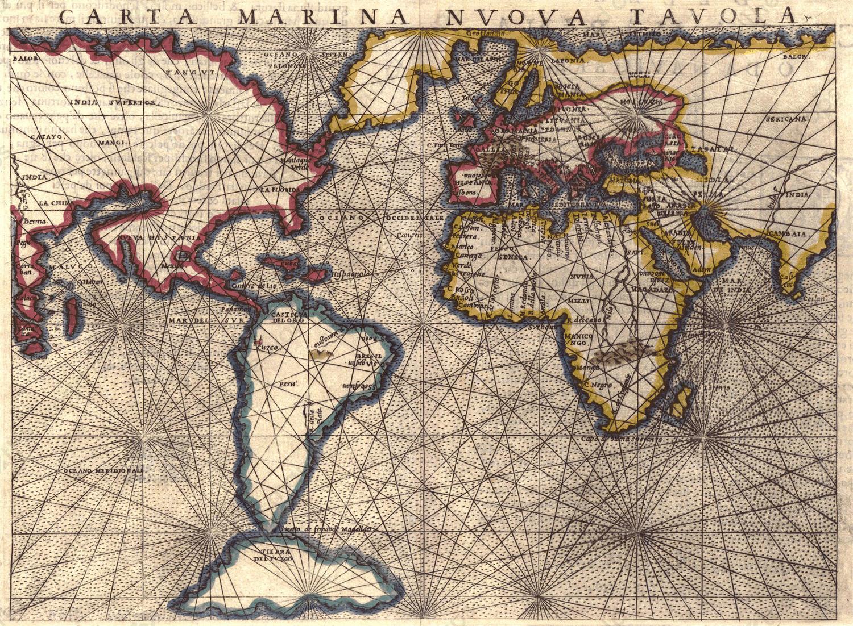 Digital world map year 1561 girolamo rusceli the world of maps digital world map year 1561 girolamo rusceli gumiabroncs Gallery