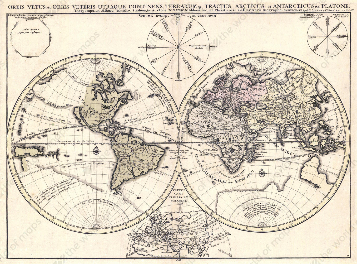 Digital world map year 1684 nicolas sanson the world of maps digital world map year 1684 nicolas sanson gumiabroncs Image collections
