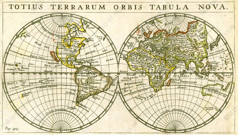 Digital world map year 1679 totius terrarum the world of maps digital world map year 1679 totius terrarum gumiabroncs Gallery