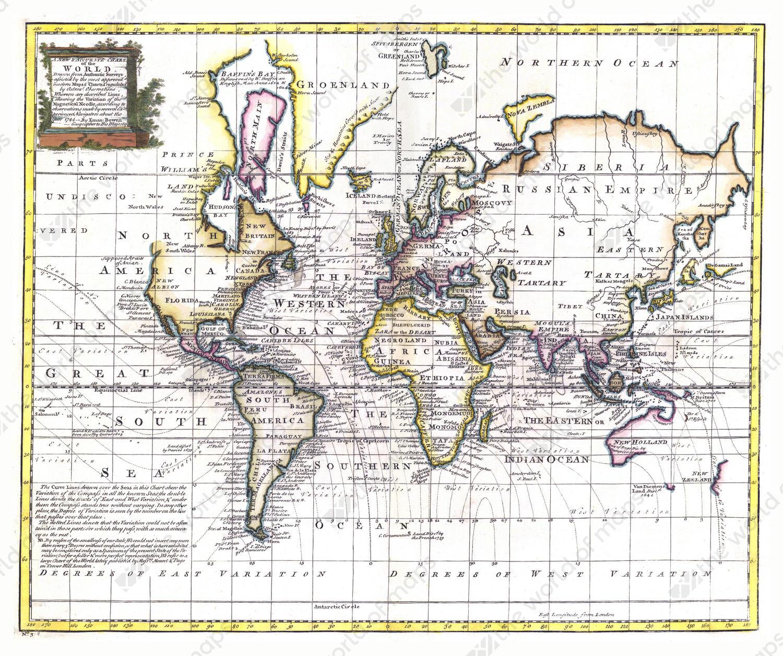 Digital world map year 1744 bowen the world of maps digital world map year 1744 bowen gumiabroncs Gallery